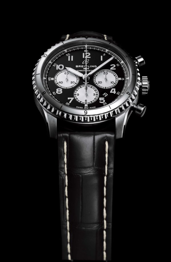 Navitimer Aviator 8 B01 Chronograph 43 SWISS Limited Edition with black dial and black alligator leather strap