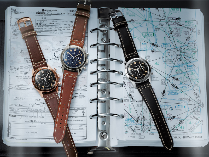 06 avi ref. 765 1953 re edition and avi 1953 edition watches