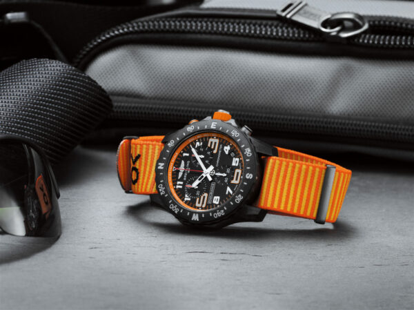 08 Endurance Pro with an orange inner bezel and Outerknown ECONYL yarn NATO strap 2048x1533 1