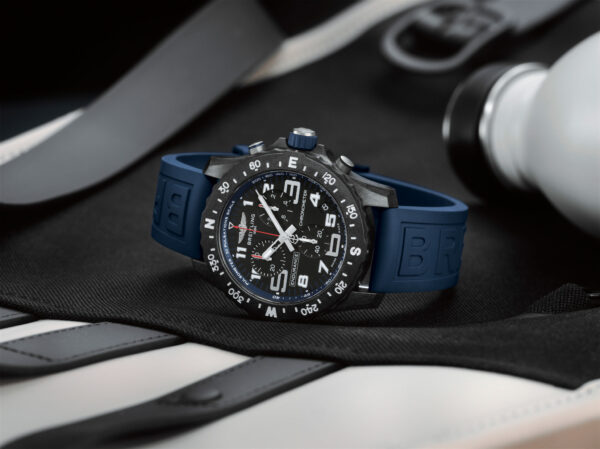 09 Endurance Pro with a blue inner bezel and rubber strap 2048x1533 1