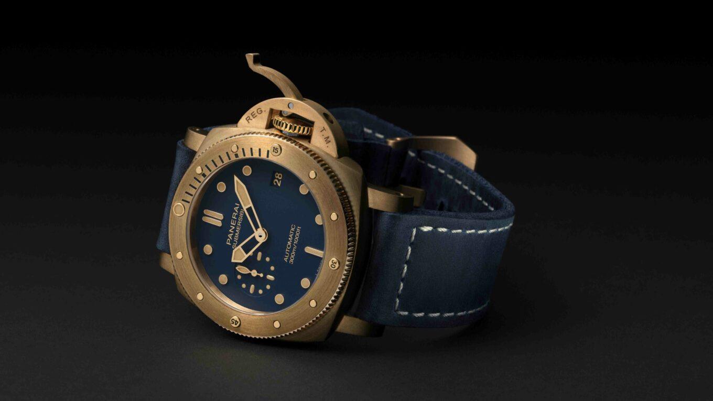 0fficine Panerai Submersible Bronzo Blu Abisso