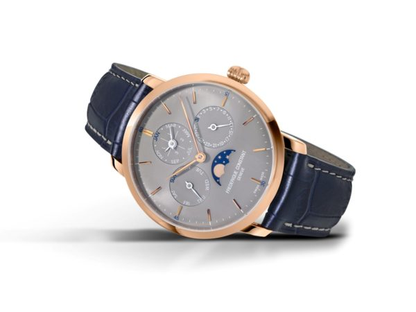 1 1FC 775G4S4 Frederique Constant presents two new Slimline Perpetual Calendar Manufacture timepieces