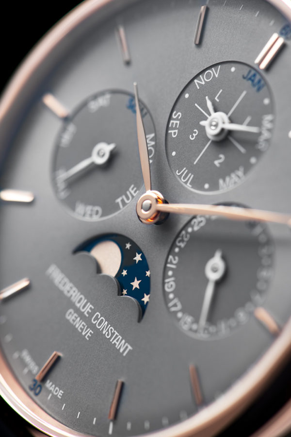 1 Frederique Constant FC 775G4S4 details 1 SD credit Eric Rossier Frederique Constant presents two new Slimline Perpetual Calendar Manufacture timepieces