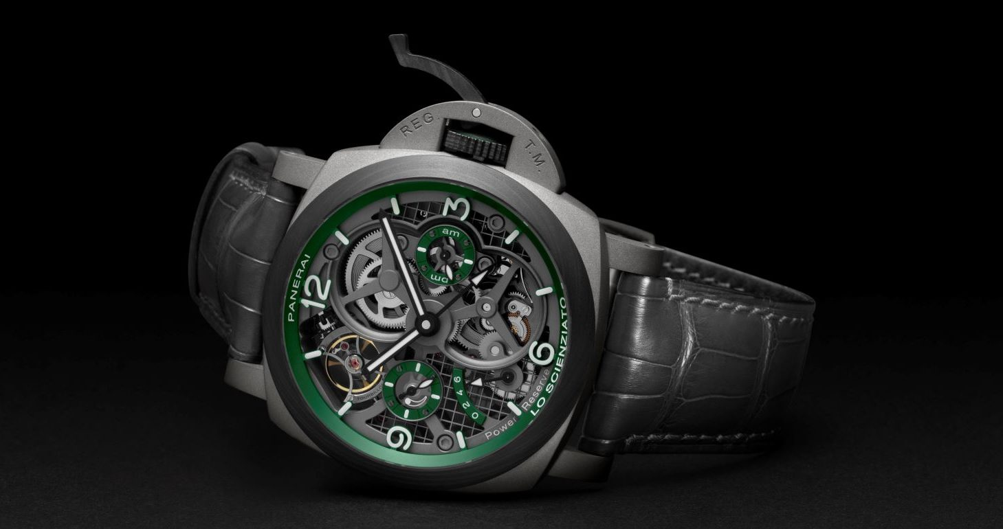 Luminor Tourbillon GMT - Lo Scienziato, a completely new appearance so far as the dial is concerned.Unmistakable, but not unchanged, the new Luminor Tourbillon GMT is revealed today as one of the most challenging projects of Panerai Laboratorio di Idee