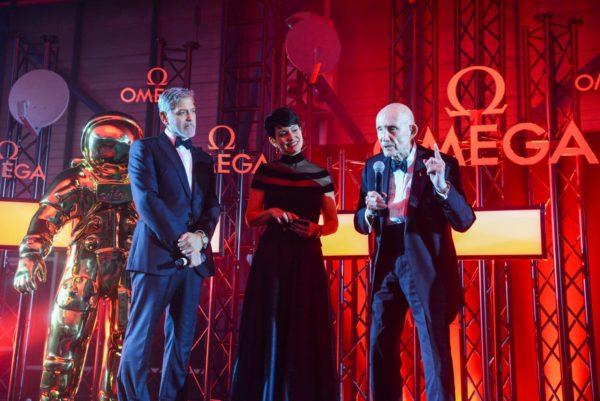 George Clooney i Belkys Nerey i Thomas Stafford Golden Moments večera