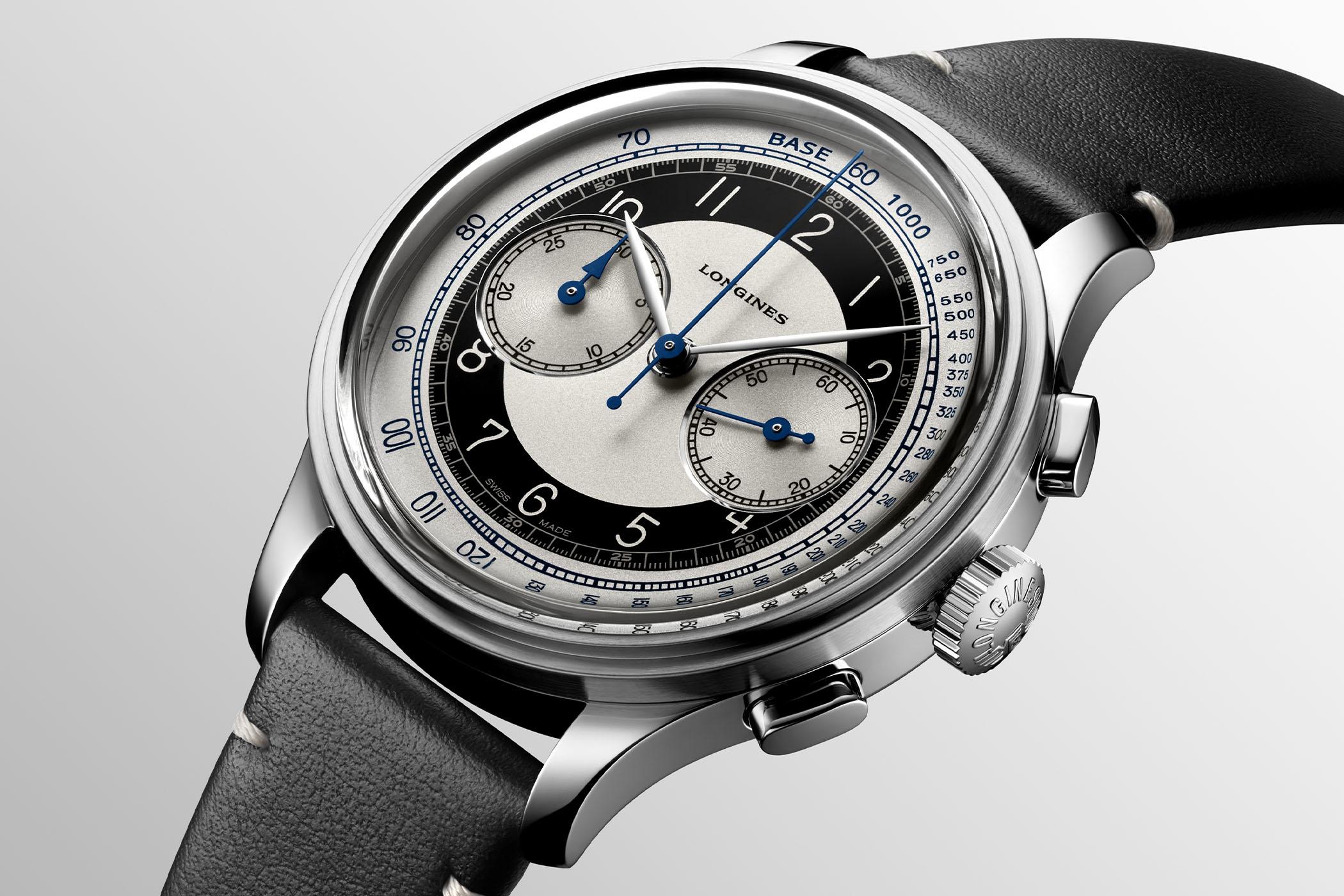 2020 Longines Heritage Tuxedo Chronograph L2.830.4.93.0 1