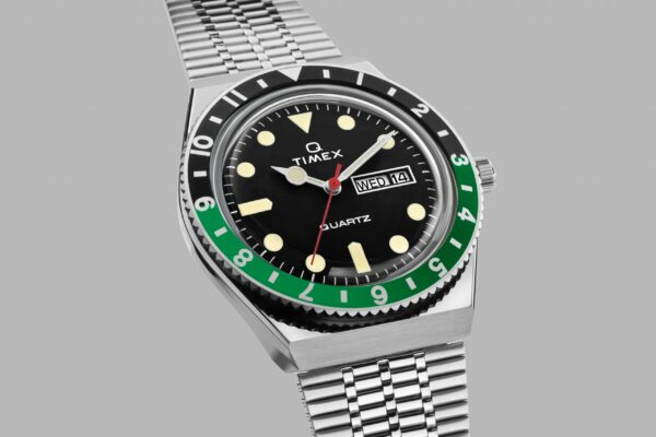 2020 Q Timex Reissue Black and Green scaled min 1