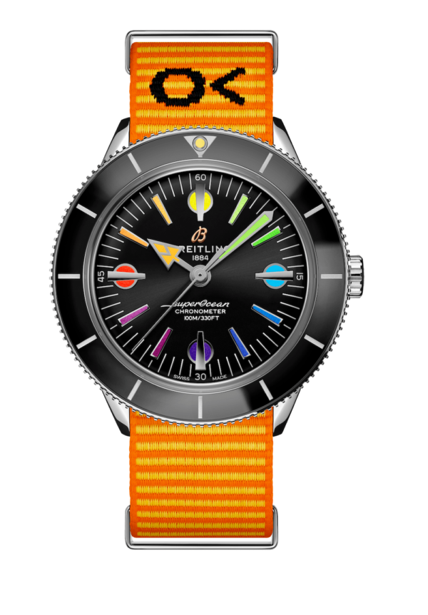 24 superocean heritage 57 limited edition with an orange outerknown econyl yarn nato strap min