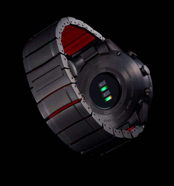 Silikonska podstava s unutarnje strane titanske narukvice Garmin MARQ