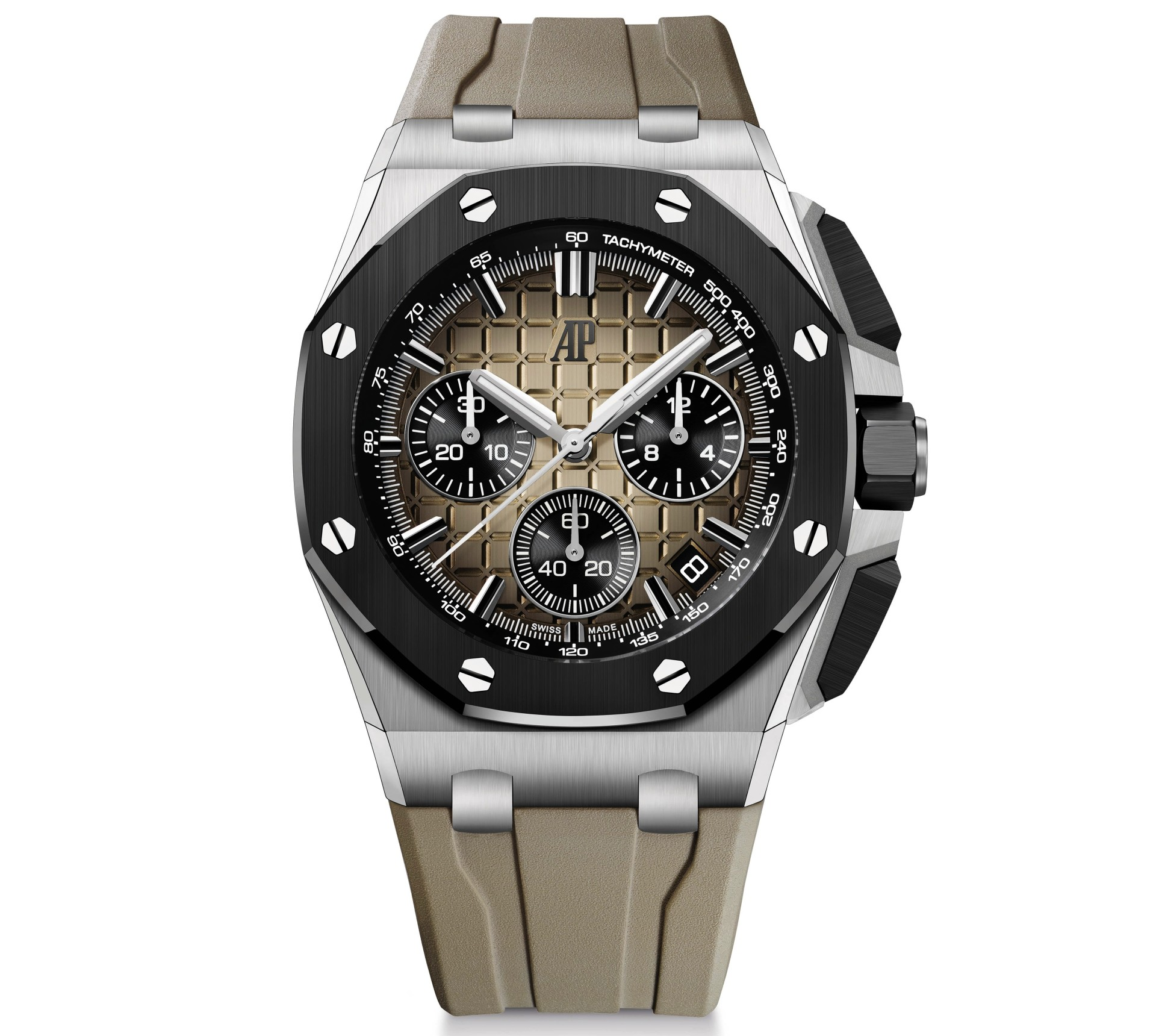43mm Royal Oak Offshore in stainless steel with smoked light brown dial 1
