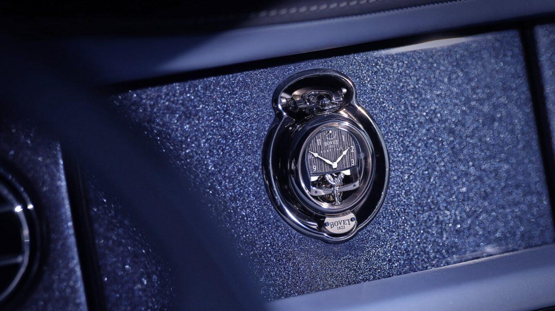Bespoke timepiece on the dashboard high min