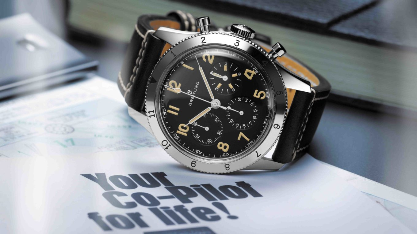Breitling avi ref. 765 1953 re edition