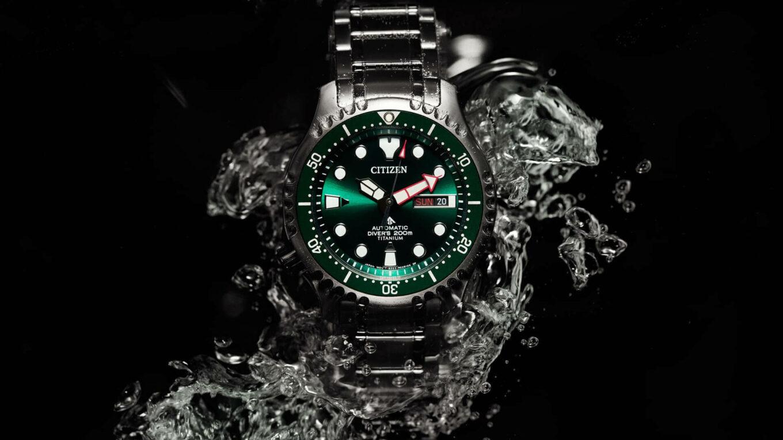 Citizen Promaster Marine Automatic Diver 200m Green Dial Super Titanium NY0100 50XE 2