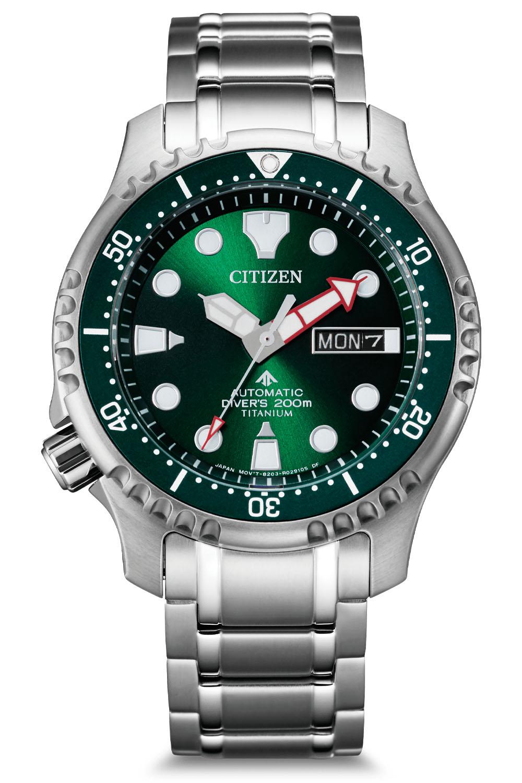Citizen Promaster Marine Automatic Diver 200m Green Dial Super Titanium NY0100 50XE 3