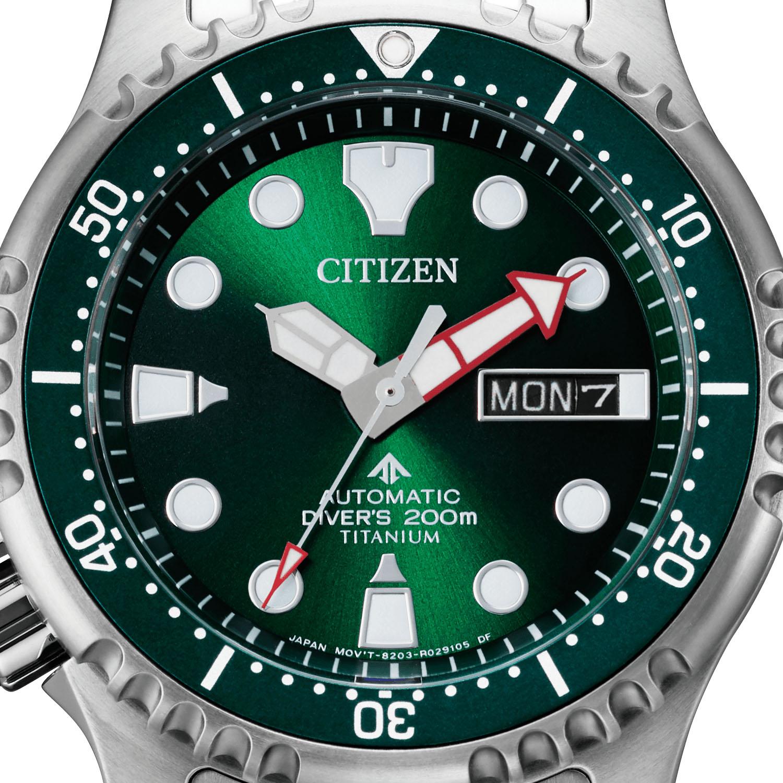 Citizen Promaster Marine Automatic Diver 200m Green Dial Super Titanium NY0100 50XE 4