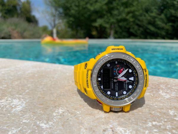 Casio G-Shock GWN-1000-9AER na bazenu