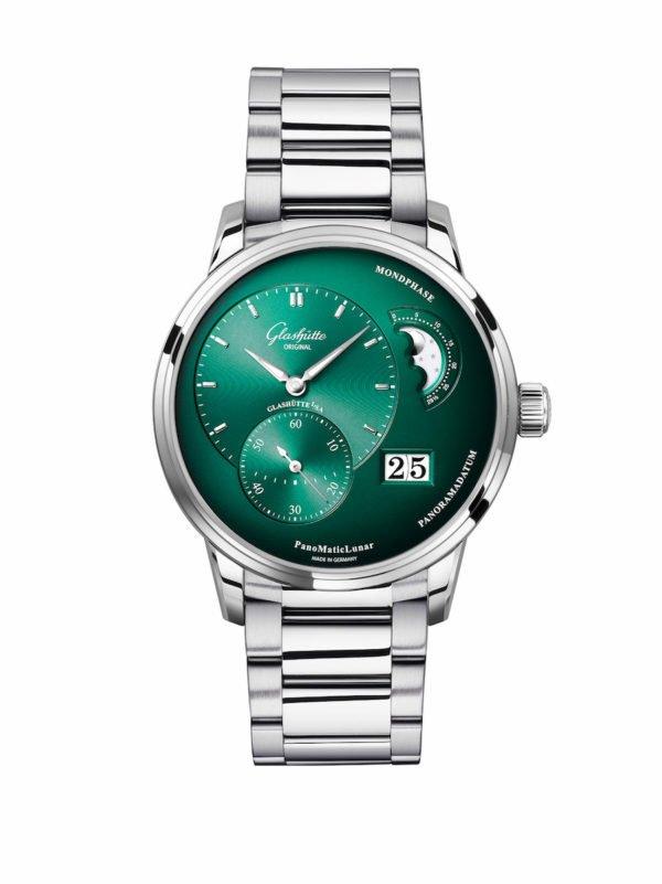 Glashütte Original PML Forest Green Front Bracelet 1 90 02 13 32 70 rgb 15cm