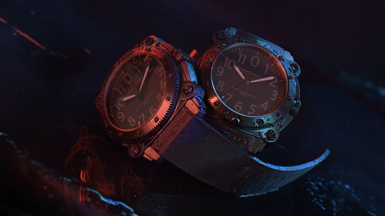 Hamilton Belowzero Titanium Limited Edition Red Blue H78505331 H78505332 Lifestyle 1