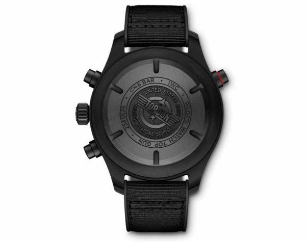 IW371815_Pilot's Watch Double Chronograph TOP GUN Ceratanium back