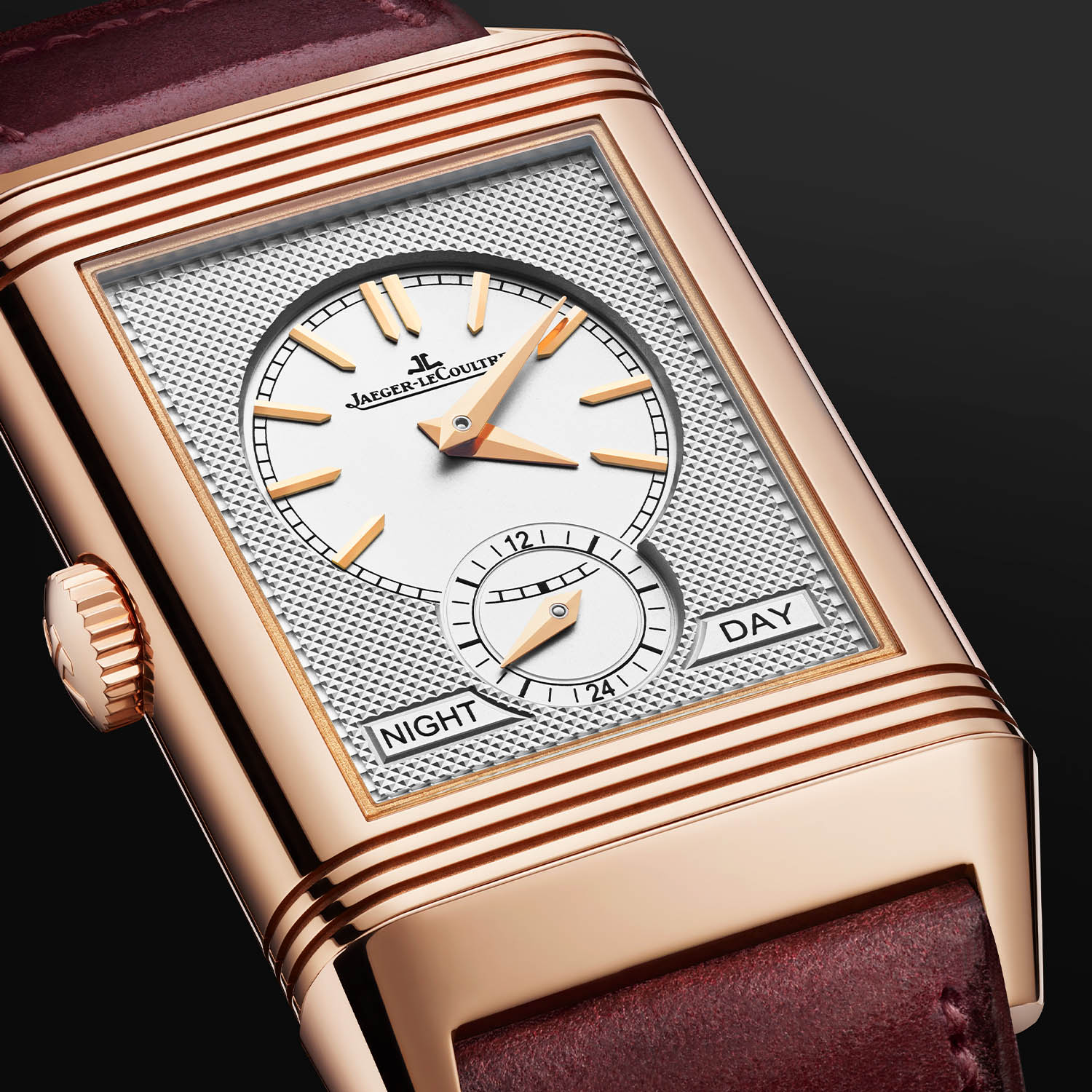 Jaeger LeCoultre Reverso Tribute DuoFace Fagliano Burgundy Limited 12