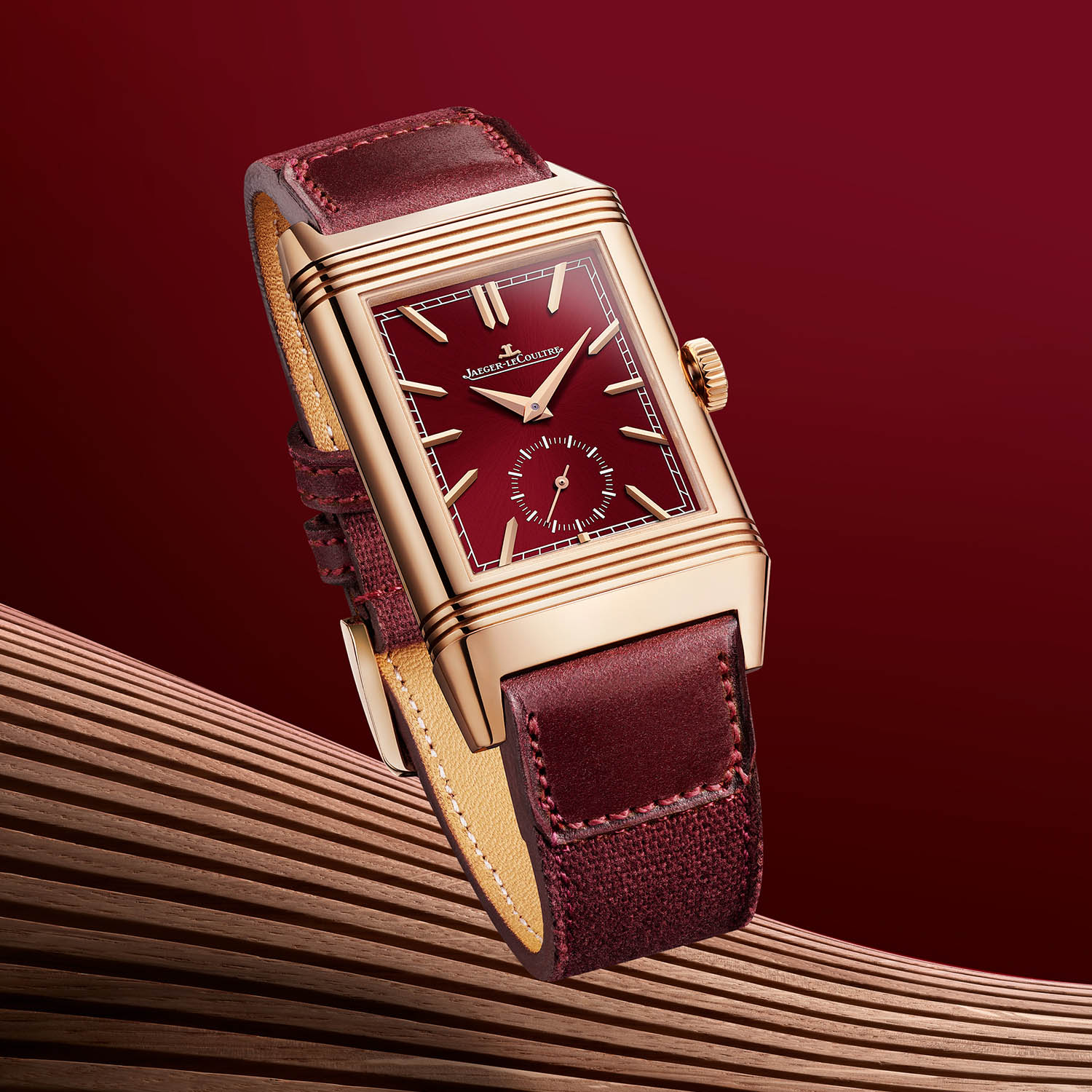 Jaeger LeCoultre Reverso Tribute DuoFace Fagliano Burgundy Limited 13