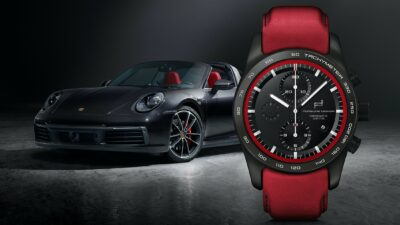 KV custom built Timepiecs 911 Targa Schwarz Guards Red