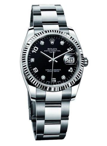 Rolex Date 34 White Rolesor 115234-72109