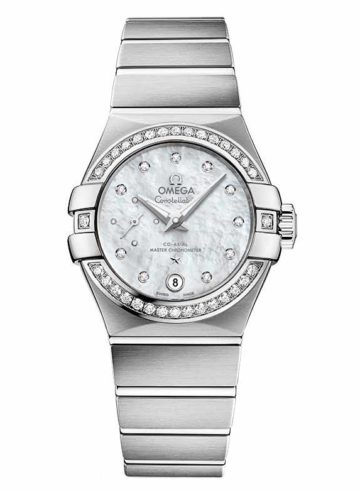 Omega Constellation Omega Co-Axial Master Chronometer Small Seconds with Diamond Indexes 127.15.27.20.55.001
