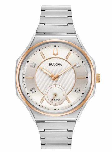 Bulova Curv with Diamond Indexes 98P182