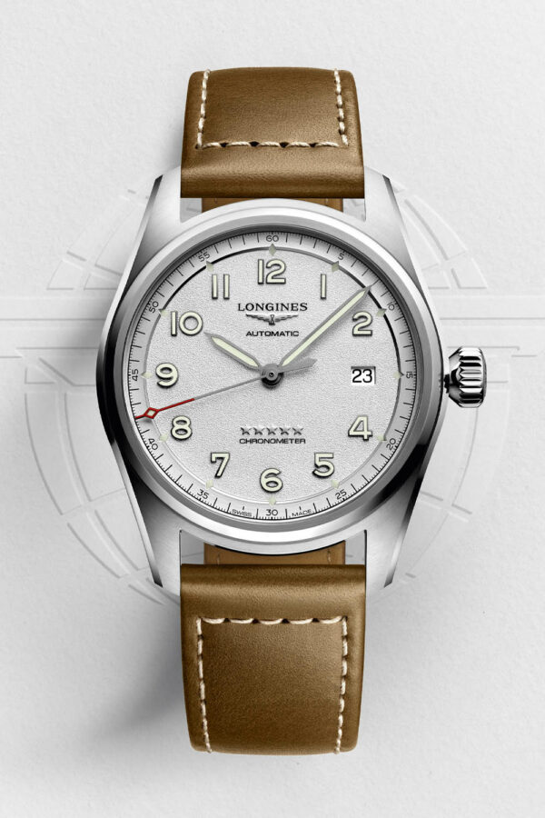 Longines Spirit Collection 2020 silver grained dial 2