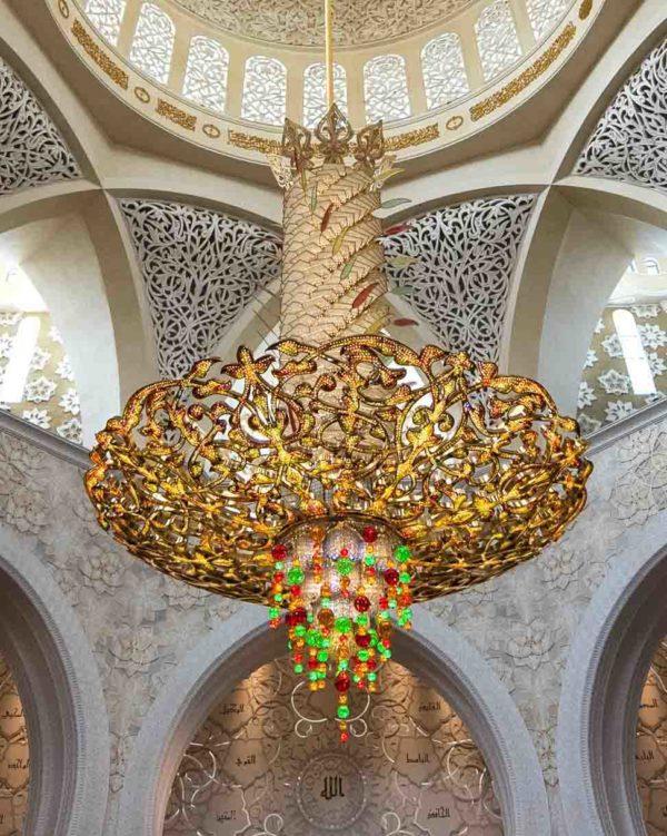 Luster od Swarovski kristala u Zayedovoj džamiji