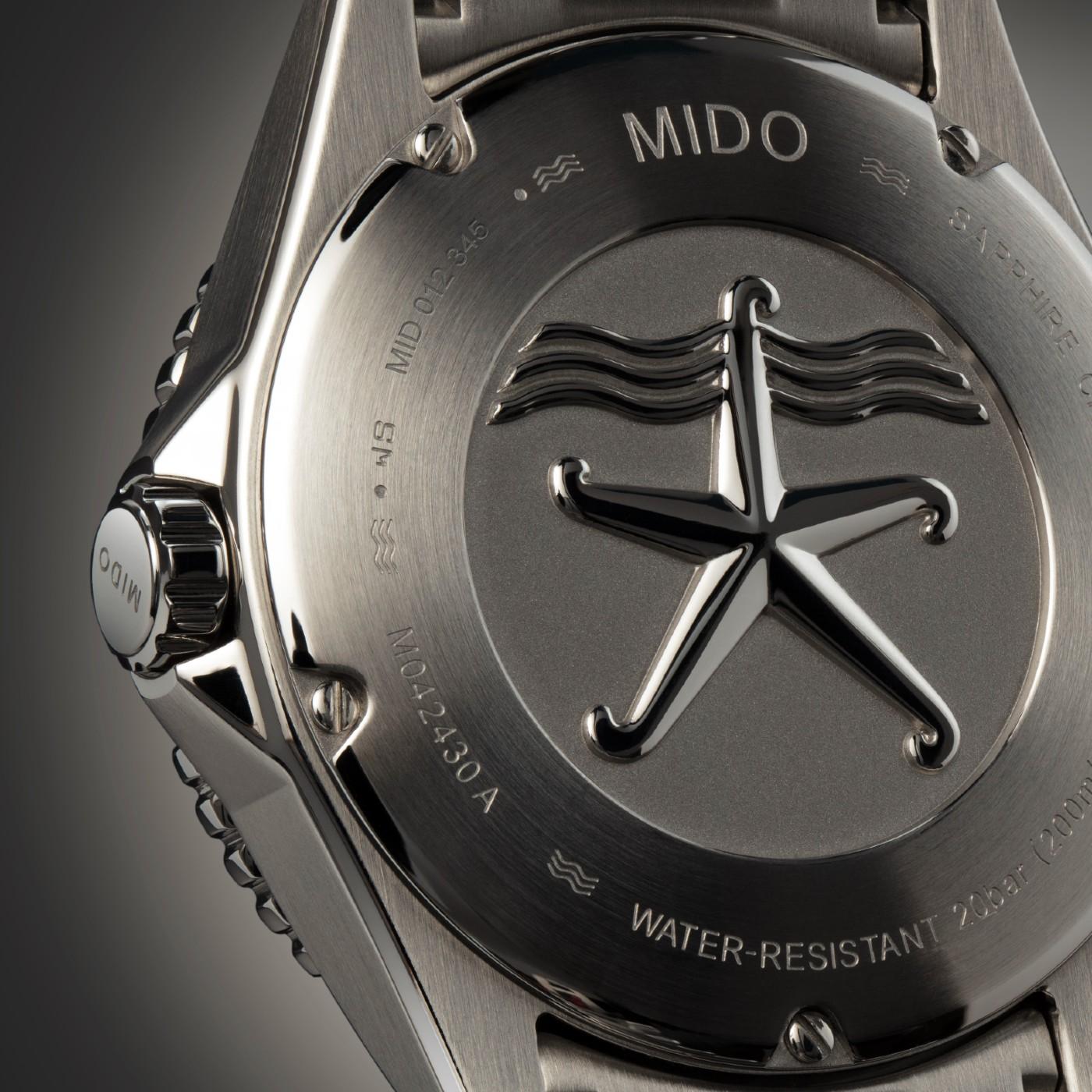Morska zvijezda simbolizira ronilačke Mido satove