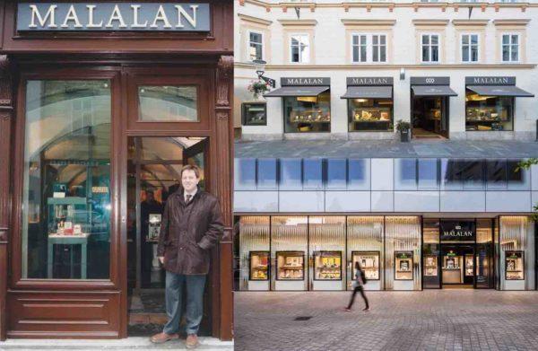 Malalanovi prodajni salon u Opicini, Ljubljani i Zagrebu