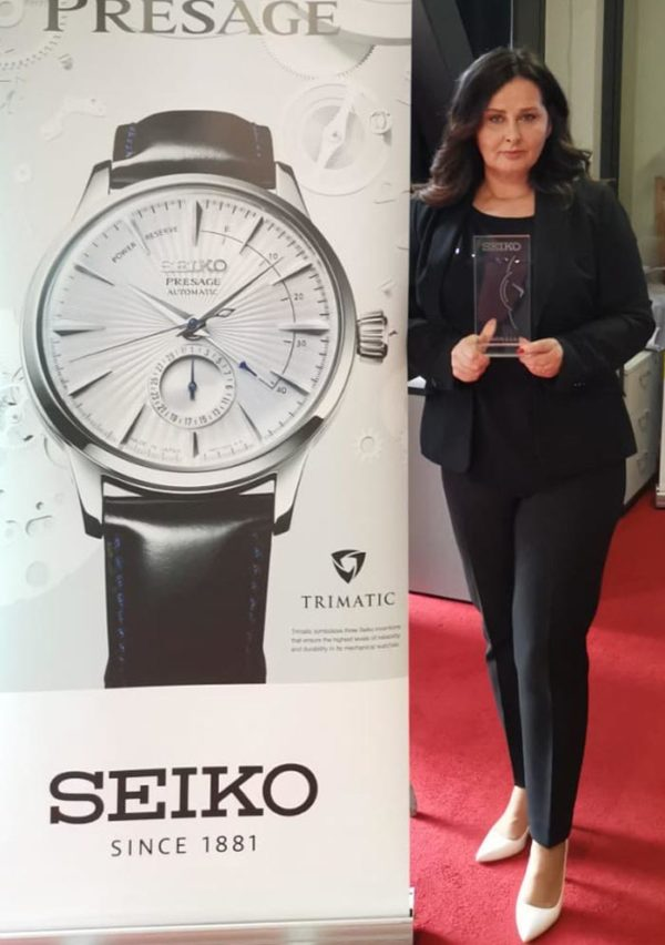 Sejla Kerenović i nagrada Seiiko's Distributor of the Year