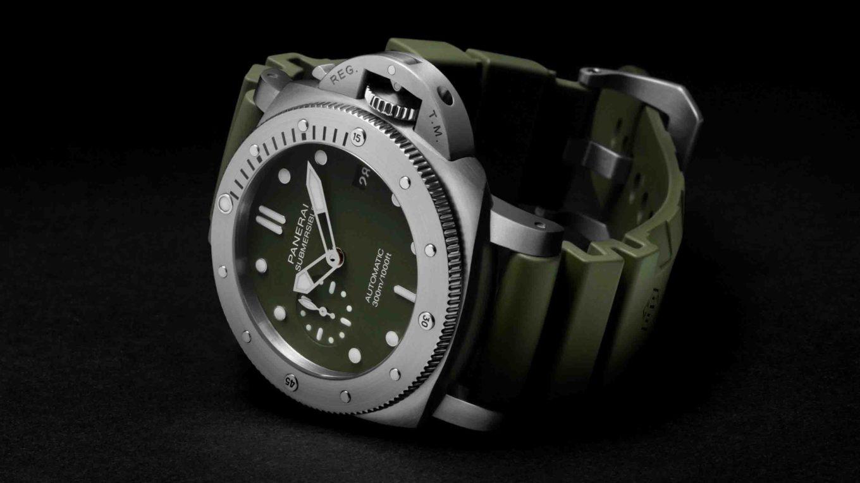 Officine Panerai Submersible Verde Militare PAM01055