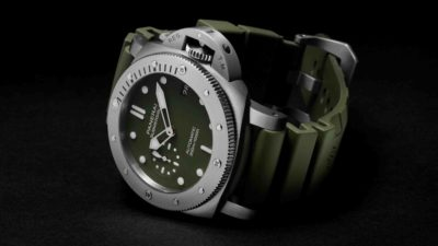 Officine Panerai Submersible Verde Militare PAM01055