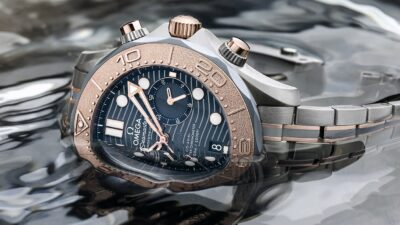 Omega Seamaster Diver 300M Chronograph Gold Titanium Tantalum 2 min