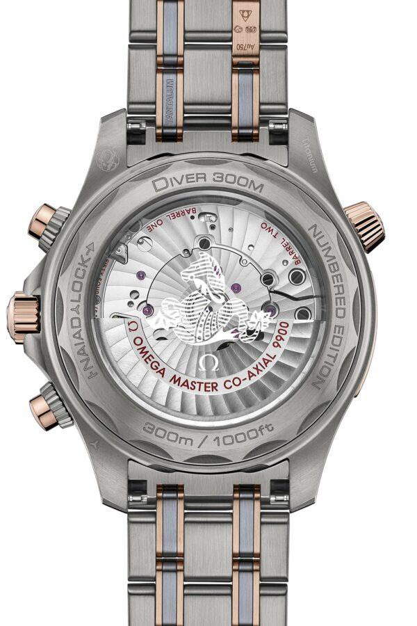 Omega Seamaster Diver 300M Chronograph Gold Titanium Tantalum 6 min