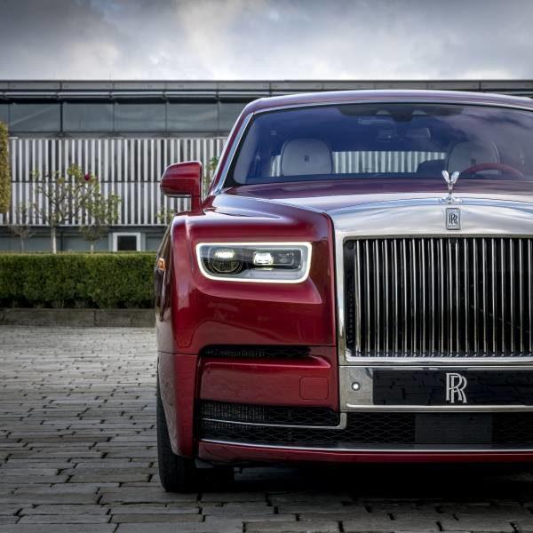 Rolls-Royce Red Phantom AIDS charity