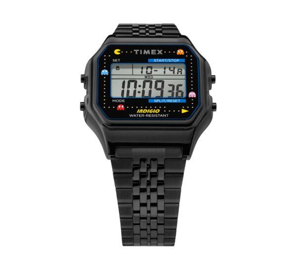 Pac Man Timex T80 black PVD front min