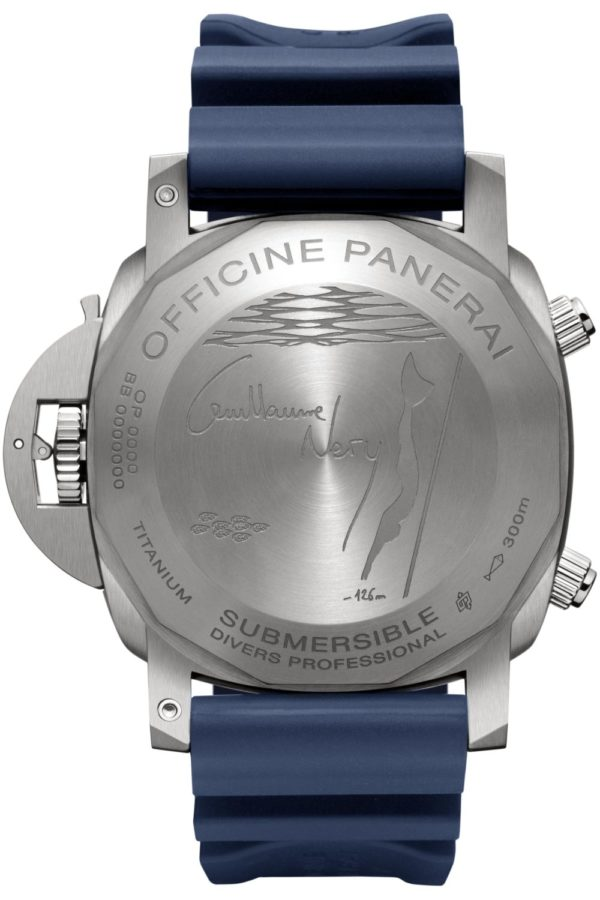 Panerai Submersible Chrono Guillaume Néry Edition PAM00982 back