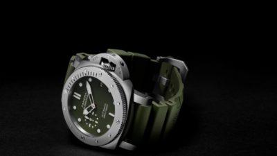 Panerai Submersible verde militare PAM01055 6 min