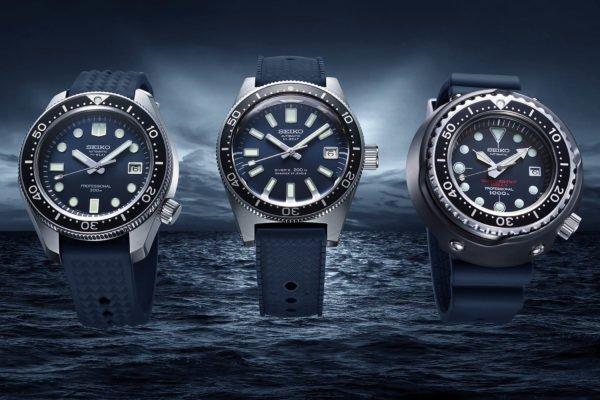Seiko 2Prospex Diver 55th Anniversary Re Editions 1965 Diver SLA037 1968 Hi Beat Diver SLA039 1975 Tuna 600m Diver SLA041 1 1