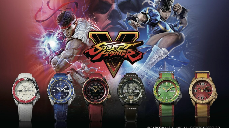 Seiko 5 Sports Street Fighter Watches Hadouken
