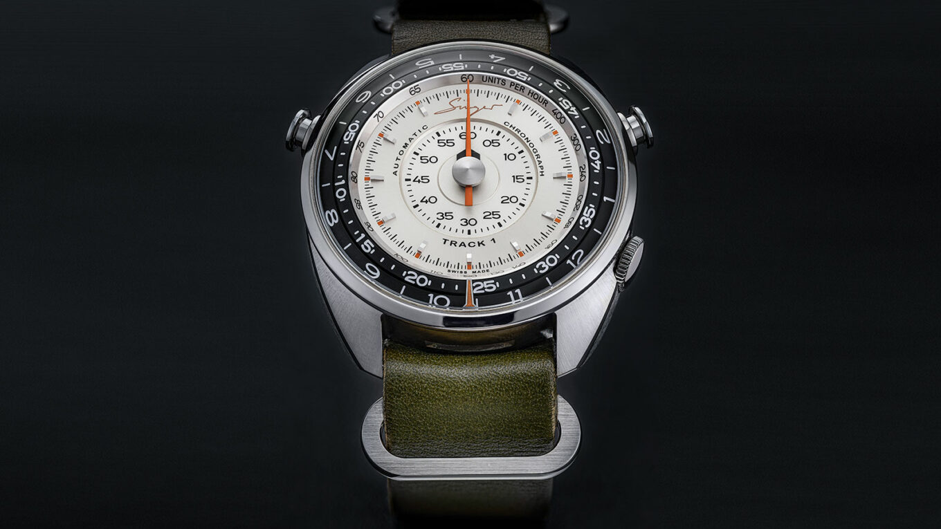 Singer Reimagined Track 1 Prototype chronograph