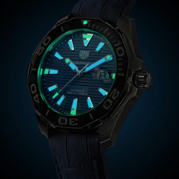 TAG Heuer Aquaracer 43mm Calibre 5 Automatic Tortoise Shell Effect Blue WAY201P.FT6178 3