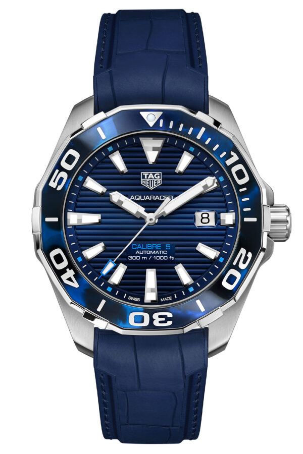 TAG Heuer Aquaracer 43mm Calibre 5 Automatic Tortoise Shell Effect Blue WAY201P.FT6178 4