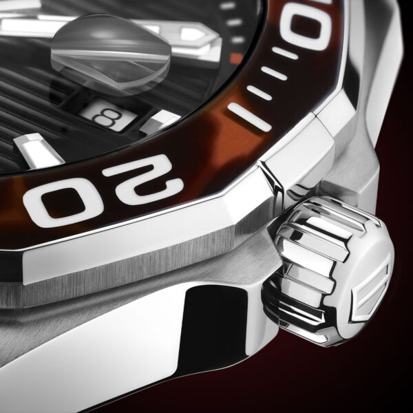 TAG Heuer Aquaracer 43mm Calibre 5 Automatic Tortoise Shell Effect Brown WAY201N.FT6177 2