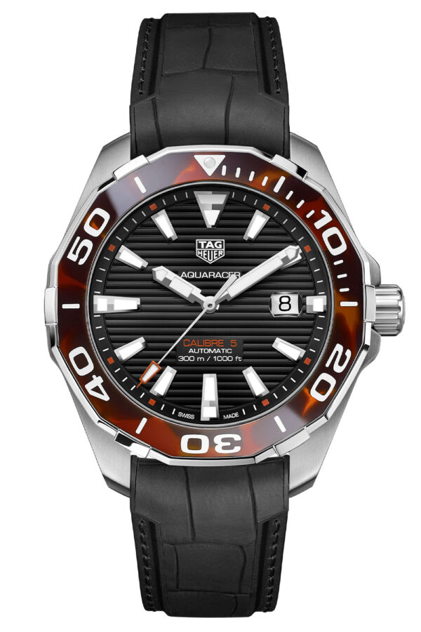 TAG Heuer Aquaracer 43mm Calibre 5 Automatic Tortoise Shell Effect Brown WAY201N.FT6177 4