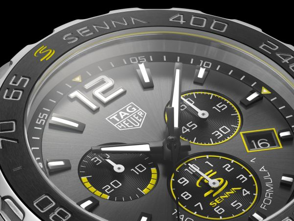 TAG Heuer Formula 1 Quartz Chronograph Senna Special Edition 2020 dial